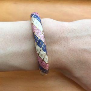 Multi-Colored Bangle Bracelet